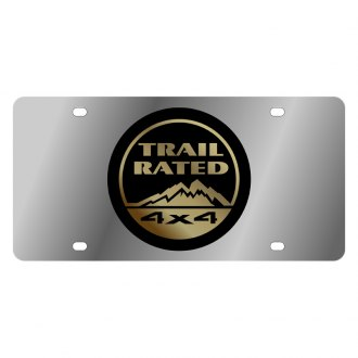 Eurosport Daytona® - MOPAR License Plate with Gold Trail Rated Logo