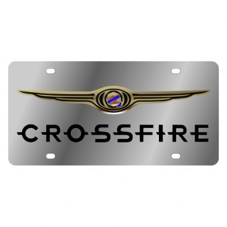 Eurosport Daytona® - MOPAR License Plate with Black Crossfire Logo