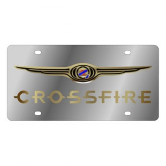 Eurosport Daytona® - MOPAR License Plate with Gold Crossfire Logo