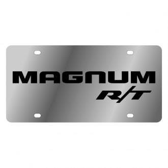 Eurosport Daytona® - MOPAR License Plate with Black Magnum RT Logo