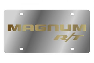Eurosport Daytona® - MOPAR License Plate with Gold Magnum RT Logo