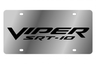Eurosport Daytona® - MOPAR License Plate with Black Viper SRT-10 Logo