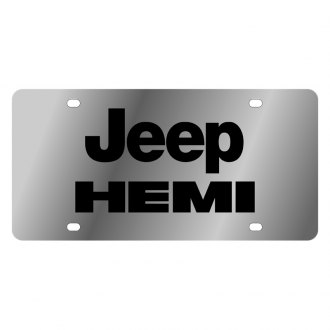 Eurosport Daytona® - MOPAR License Plate with Black Jeep Hemi Logo