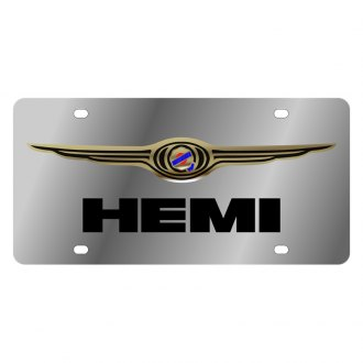Eurosport Daytona® - MOPAR License Plate with Black Hemi Logo