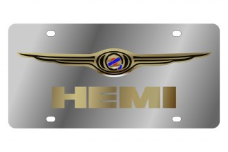 Eurosport Daytona® - MOPAR License Plate with Gold Hemi Logo