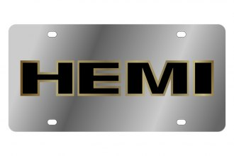 Eurosport Daytona® - MOPAR License Plate with Gold Hemi Outline Logo