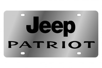Eurosport Daytona® - MOPAR License Plate with Black Jeep Patriot Logo