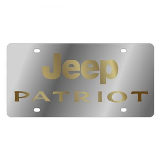 Eurosport Daytona® - MOPAR License Plate with Gold Jeep Patriot Logo