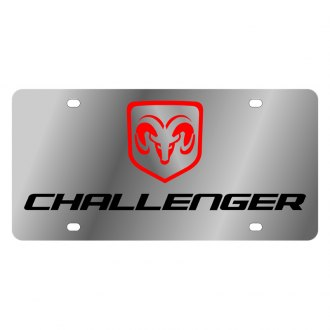 Eurosport Daytona® - MOPAR License Plate with Black Challenger Logo