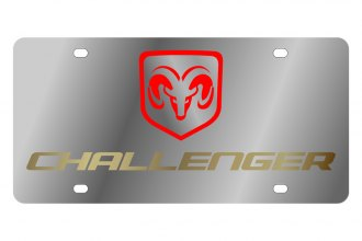 Eurosport Daytona® - MOPAR License Plate with Gold Challenger Logo