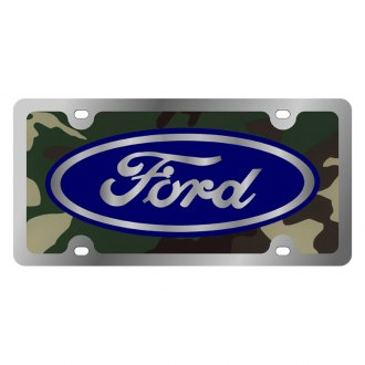 Eurosport Daytona® - Ford Motor Company Green Camouflage License Plate with Silver Ford Logo