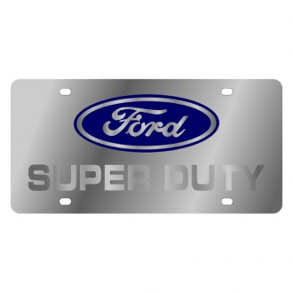 Eurosport Daytona® - Ford Motor Company License Plate with Silver Super Duty Logo