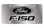 Eurosport Daytona® - Black F-150 Logo on Stainless Steel License Plate