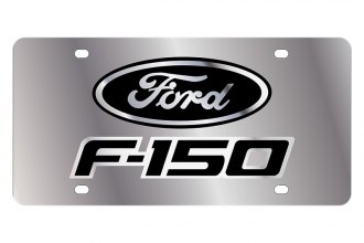 Eurosport Daytona® - Ford Motor Company License Plate with Black F-150 with Black Oval Logo