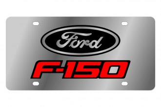 Eurosport Daytona® - Ford Motor Company License Plate with Black with Red & Black Oval F-150 Black with Red & Black Oval Logo