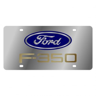 Eurosport Daytona® - Ford Motor Company License Plate with Gold F-350 Logo