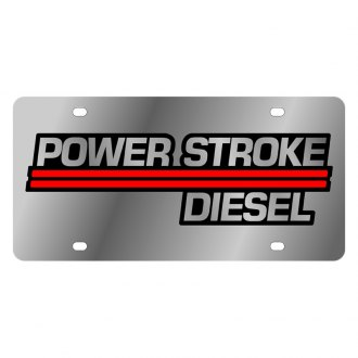Eurosport Daytona® - Ford Motor Company License Plate with Gold Power Stroke Diesel Logo