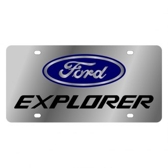 Eurosport Daytona® - Ford Motor Company License Plate with Black Explorer Logo