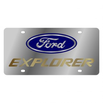 Eurosport Daytona® - Ford Motor Company License Plate with Gold Explorer Logo