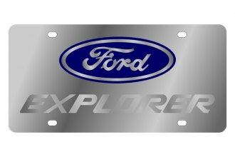 Eurosport Daytona® - Ford Motor Company License Plate with Silver Explorer Logo