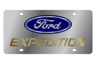 Eurosport Daytona® 1511-2 - Ford Motor Company License Plate with Gold Expedition Logo