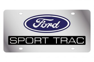 Eurosport Daytona® 1515-3 - Ford Motor Company License Plate with Silver Sport Trac Logo