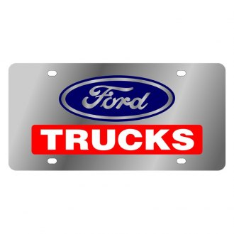 Eurosport Daytona® - Ford Motor Company License Plate with White / Red Trucks Logo and Ford Emblem