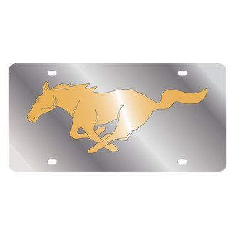 Eurosport Daytona® - Ford Motor Company License Plate with Gold Mustang Logo