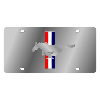 Eurosport Daytona® - Ford Motor Company License Plate with Silver Mustang Logo