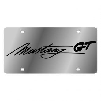 Eurosport Daytona® - Ford Motor Company License Plate with Black Mustang Script Logo