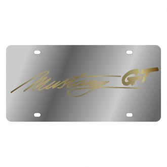Eurosport Daytona® - Ford Motor Company License Plate with Gold Mustang Script Logo