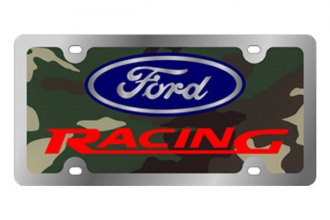 Eurosport Daytona® - Ford Motor Company Green Camouflage License Plate with Silver Ford Racing Logo