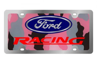 Eurosport Daytona® - Ford Motor Company - Pink Camouflage License Plate with Silver Ford Racing Logo