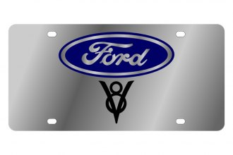 Eurosport Daytona® - Ford Motor Company License Plate with Black V8 Logo