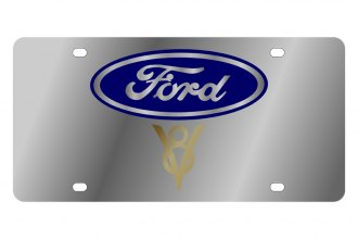 Eurosport Daytona® - Ford Motor Company License Plate with Gold V8 Logo
