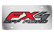 Eurosport Daytona® - Black FX4 Off Road Logo on Stainless Steel License Plate