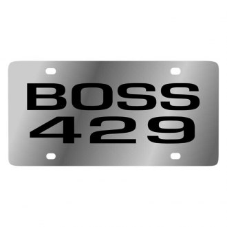 Eurosport Daytona® - Ford Motor Company Polished License Plate with Black Ford Boss 429 Logo