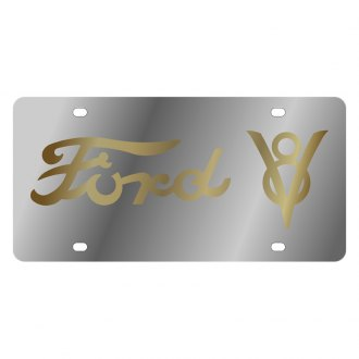 Eurosport Daytona® - Ford Motor Company License Plate with Gold Ford V8 Logo