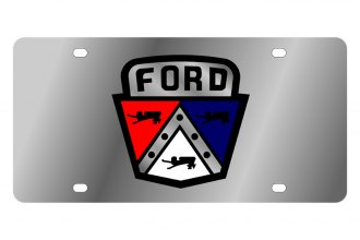 Eurosport Daytona® - Ford Motor Company License Plate with Black Ford Retro Logo