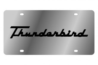 Eurosport Daytona® - Ford Motor Company License Plate with Black Thunderbird Retro Script Logo