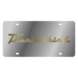 Eurosport Daytona® - Ford Motor Company License Plate with Gold Thunderbird Retro Script Logo