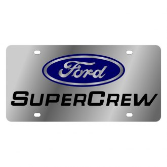 Eurosport Daytona® - Ford Motor Company License Plate with Black SuperCrew Logo