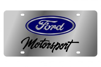 Eurosport Daytona® - Ford Motor Company License Plate with Black Ford Motorsport Logo