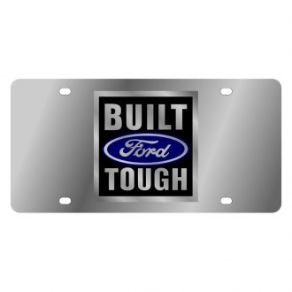 Eurosport Daytona® - Ford Motor Company License Plate with Black Built Ford Tough Logo