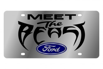Eurosport Daytona® - Ford Motor Company License Plate with Black Meet the Beast Logo