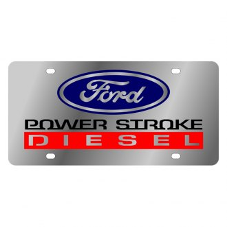Eurosport Daytona® - Ford Motor Company License Plate with Black Power Stroke Diesel Logo