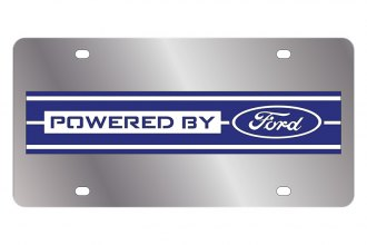 Eurosport Daytona® - Ford Motor Company License Plate with Black Powered by Ford Logo