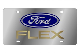 Eurosport Daytona® - Ford Motor Company License Plate with Gold Ford Flex Logo