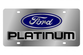 Eurosport Daytona® - Black Platinum Logo on Stainless Steel License Plate