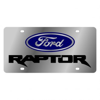 Eurosport Daytona® - Ford Motor Company License Plate with Black Ford Raptor Logo